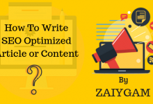 How to write SEO Optimized Article or Content