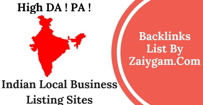 Indian Business Listing Sites List