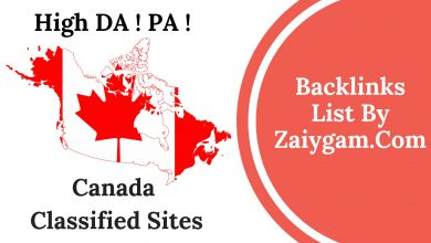 High DA PA Canada Classified Site List
