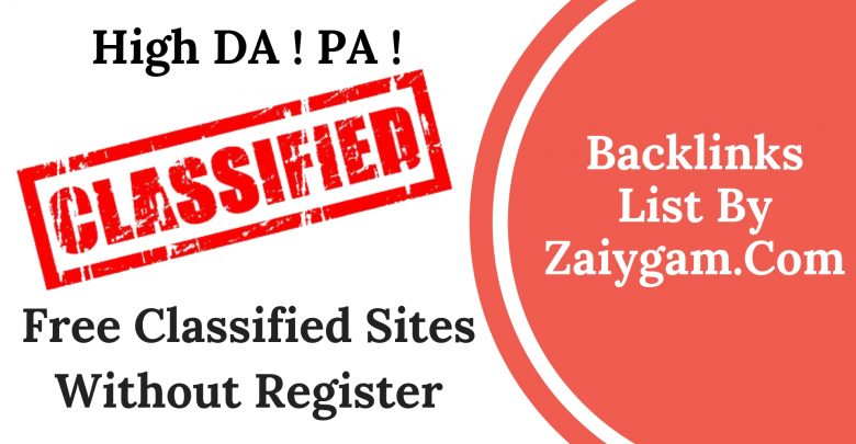 High DA PA Free Classified Site Without Register List