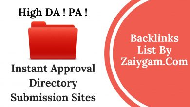 High DA PA Instant Approval Directory Submission Site List