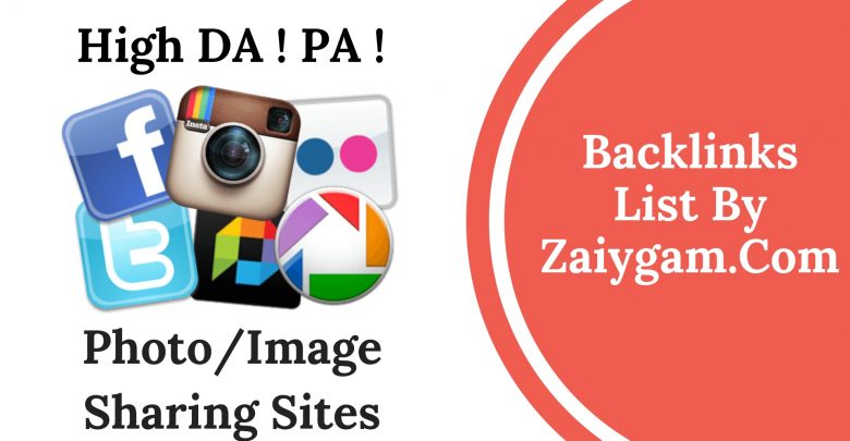 High DA PA Photo or Image Submission Site List