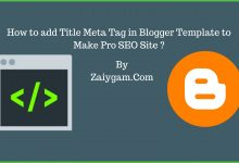 How to add Title Meta Tag in Blogger Template to Make Pro SEO Site ?